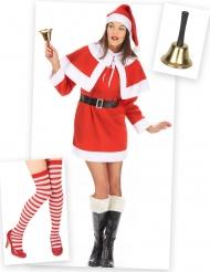 Süßes Weihnachtsfrau Kostüm-Set rot-weiß