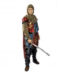 Löwen-Ritter Kostüm für Herren blau-rot-gold