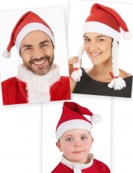Weihnachtsmützen-Set für die Familie rot-weiß