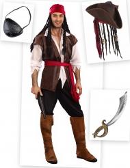 Set Piraten Kostüm für Herren