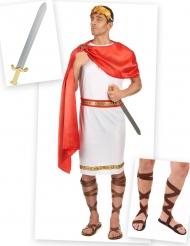 Römer Kostüm-Set für Herren rot-weiß-braun
