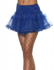 Eleganter Petticoat für Damen blau