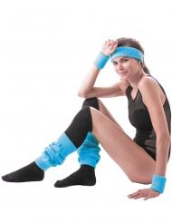 80er Jahre Sport-Kostüm-Set 2-teilig blau