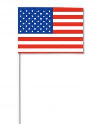 Deko Papierfahne USA 14 x 21 cm