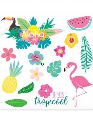 Bunte Hawaii-Tattoos Abziehbilder 8 cm