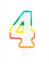 Geburtstagskerzenfigur in Form der Nummer 4 7,5 cm