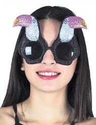 Spaßbrille Tukan tierisches Accessoire schwarz-rosa-weiss