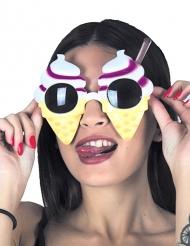 Leckere Eistüten-Sonnenbrille Spaßbrille bunt