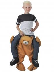 Carry me Bär-Kostüm für Kinder humorvoll bunt