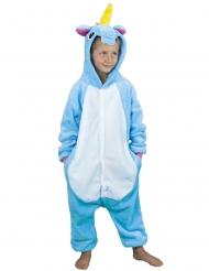 Einhorn Kostüm für Kinder hellblau