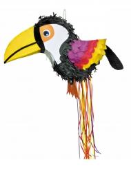 Tropischer Tukan-Pinata Party-Spielzeug für Mottopartys bunt 52 x 22 x 32 cm
