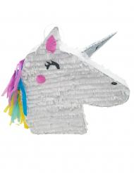 Einhorn-Piñata weiss-pink 47x32x8cm