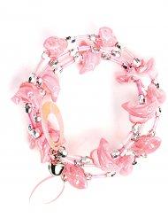 Bezauberndes Armband Delfin Kostümzubehör rosa-silber