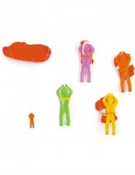 Mini-Fallschirmjäger für Pinatas Party-Accessoire bunt