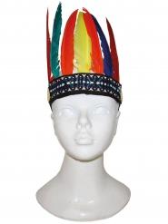 Indianer Kopfbedeckung mit Federn für Kinder