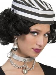 Sträflings-Ohrringe Kostüm-Accessoire silber