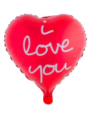 Ballon aus Aluminium Love you rot 52 x 46 cm
