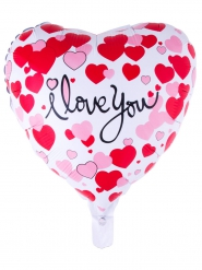 Aluminium Ballon Love you bunt 52 x 46 cm