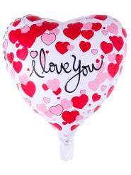 Aluminium Ballon Love you bunt 52 x 46 cm