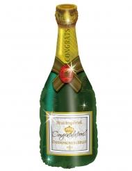 Champagnerflasche-Folienballon Partyzubehör bunt 94cm