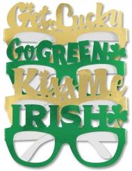 St. Patrick´s Day -Partybrillen für Erwachsene 4 Stück grün-gold
