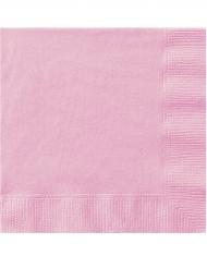 50 Servietten rosa 33x33