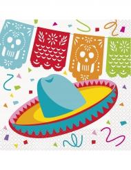 Mexikanische Servietten bunt