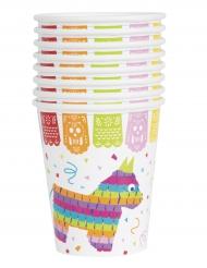 Lama-Trinkbecher Tischzubehör Mexiko 8 Stück bunt 355ml