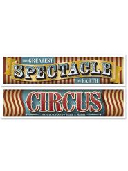 2er Set Banderolen Vintage Zirkus 150 cm