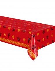 Rote Tischdecke Asien 137 x 274 cm