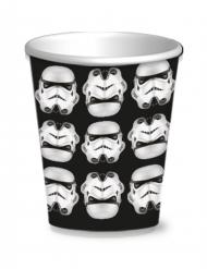 8 Stormtrooper Pappbecher Star Wars™ 250 ml