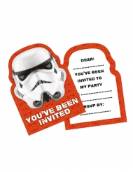 6 Einladungskarten Stormtrooper Star Wars™