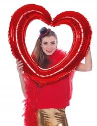 Herz-Ballon Party-Zubehör für Fotos rot 80x70cm