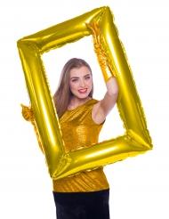 Ballon-Bilderrahmen Partyzubehör für Festlichkeiten gold 85x60cm