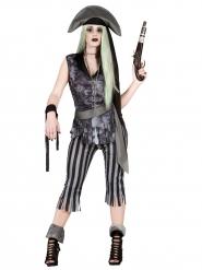 Kostüm Phanton-Pirat für Damen Halloween