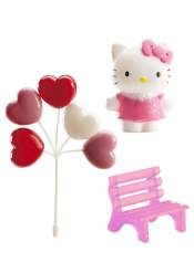 Hello Kitty Dekoset Kuchen 6,5 cm
