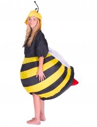 Bienenkostüm aufblasbar für Erwachsene schwarz-gelb