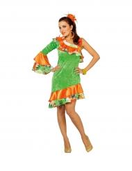 Tänzerin - Kostüm Rumba orange grün