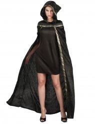 Geheimnisvoller Umhang für Damen Halloween schwarz-gold