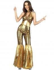 70er-Jahre Disco-Jumpsuit für Damen gold