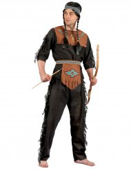 Indianer-Herrenkostüm Western-Verkleidung schwarz-braun