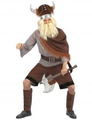 Wikinger-Kostüm für Herren Krieger braun-grau