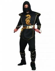 Gefährlicher Ninja-Krieger Herrenkostüm schwarz-gold