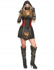 Kriegerisches Ninja-Damenkostüm schwarz