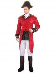 Napoleon-Herrenkostüm Historisch rot-weiss-schwarz