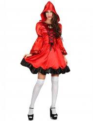 Bezauberndes Rotkäppchen-Kostüm für Damen rot-schwarz