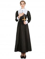 Nonnen-Damenkostüm Religiöse-Verkleidung schwarz-weiss