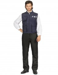 FBI-Agent Weste für Herren Kostümzubehör blau