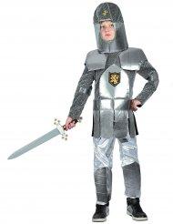 Ritter-Kostüm für Kinder Mittelalter silber-grau