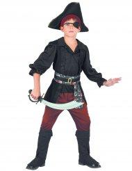 Seeräuber Piraten-Kostüm für Jungen schwarz-rot